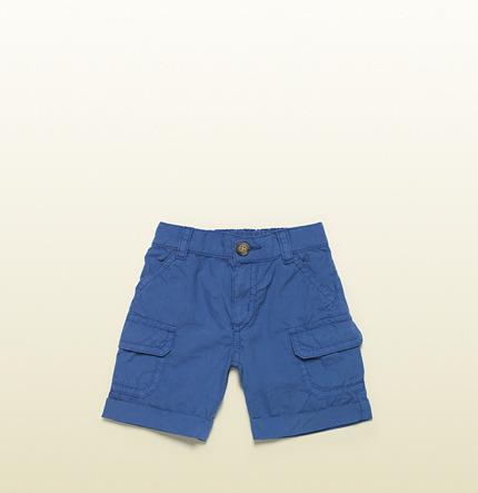 Gucci Light Blue Bermuda Short With Cargo Pockets