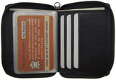 AG Jeans A&G Wallets Mens Genuine Leather Zipper Around Bifold Wallet with Outside ID