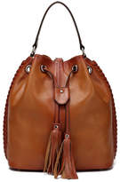 Vicenzo Leather Chantel Leather Bucket Bag Backpack