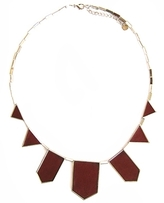 House of Harlow 1960 - Red Silver Triangle Necklace **Backorder**