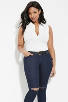 Forever 21 FOREVER 21+ Plus Size Buttoned Polo