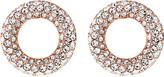 Michael Kors Brilliance rose gold-toned pavé stud earrings