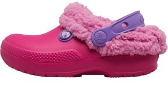Crocs Girls Classic Blitzen III Fuzz Lined Clogs Candy Pink/Party Pink
