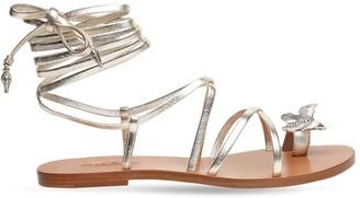 Etro 10mm Metallic Leather Flat Sandals