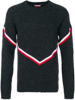 Moncler contrast striped knitted sweater