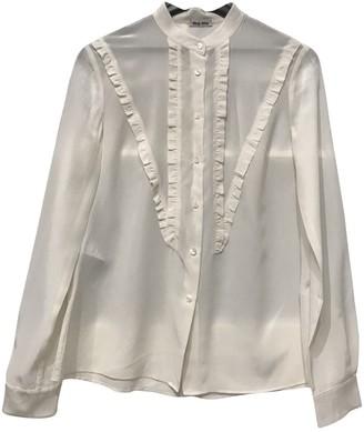 Miu Miu Ecru Silk Top for Women