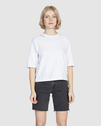 Quiksilver Womens Cropped Sleeve T Shirt