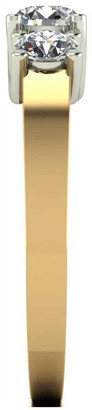 Moissanite 18ct Gold 1ct Total Trilogy Ring