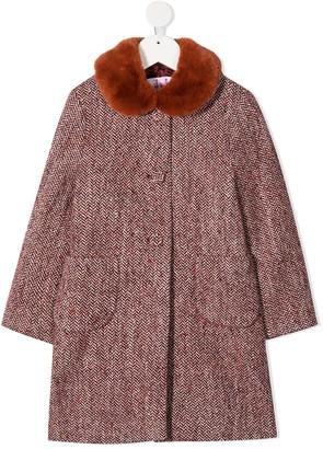 Il Gufo Red Herringbone Coat
