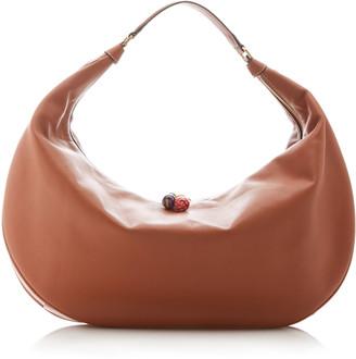STAUD Large Shasha Leather Hobo Shoulder Bag