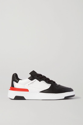 Givenchy Wing Two-tone Textured-leather Sneakers - Black