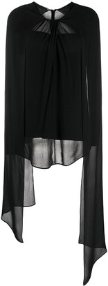 Prada Sheer Detail Long-Sleeved Blouse