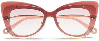 Chloé Butterfly-frame Gold-tone And Acetate Sunglasses