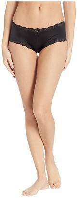 Maidenform Sexy Microfiber Lace Cheeky Hipster (Black) Women's Underwear