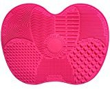 Makeup Brush Cleaner, VAKO MakeUp Brush Cleansing Mat, Portable Silicone Brush Cleaner, Travel Brush Cleaner pad, Cosmetic Brush Scrubber for both Eye and Face Brushes (Mat-Red)