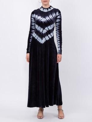 Tie Dye Velvet Long Sleeve Dress