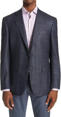 Canali Sienna Classic Fit Melange Wool Blend Sport Coat