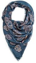 MANGO Strass skull print scarf