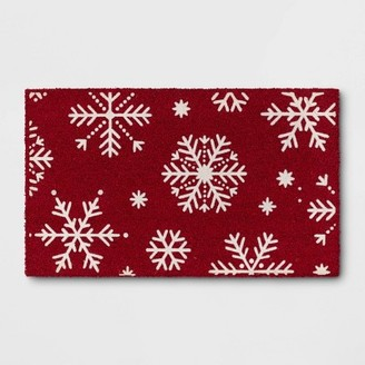 Snowflake with Flocking Doormat - ThresholdTM