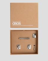 Asos Tie Bar Cufflink and Lapel Pin Set