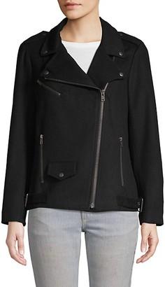 Rebecca Minkoff Brando Wool Blend Moto Jacket