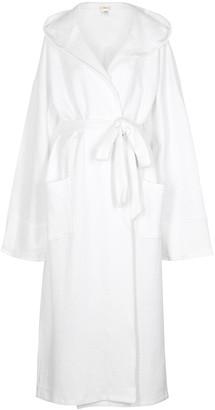 Eberjey Zen White Long Cotton Robe