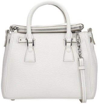 Maison Margiela Hand Bag In White Leather