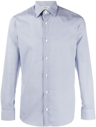Ermenegildo Zegna Long-Sleeved Micro-Print Shirt