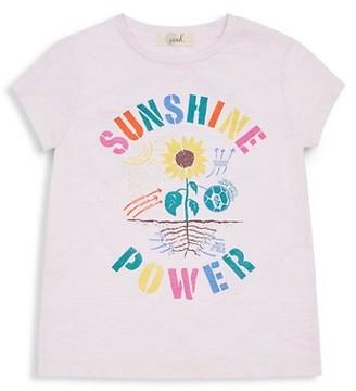 Peek Little Girl's & Girl's Sunshine Power Graphic T-Shirt