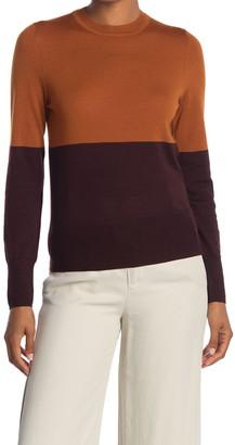 Equipment Mignonette Wool Colorblock Sweater