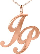 14K Rose Gold-Plated Sterling Personalized Monogram w/ Chain
