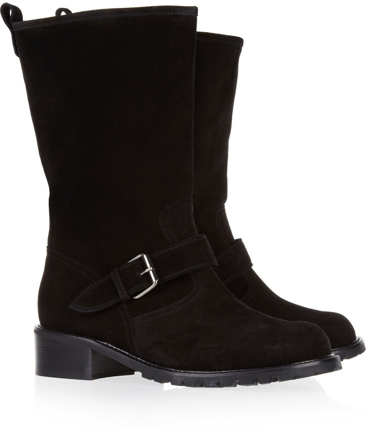 Giuseppe Zanotti Buckled suede boots