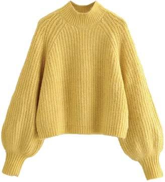 Goodnight Macaroon 'Kaylee' Crewneck Balloon Sleeve Knit sweater(3 Colors)