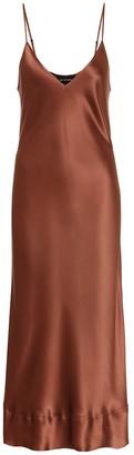 Lee Mathews Stella silk-satin slip dress