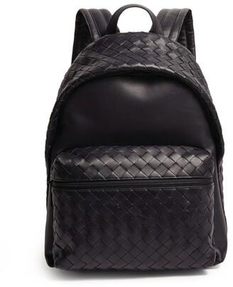 Bottega Veneta Leather Intrecciato Backpack