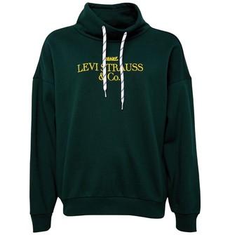 Levi's Womens Sadie Funnel Neck 90s Logo Text Funnel Neck Sweat Pine Grove