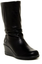 Keen Kate Leather Slouch Wedge Boot