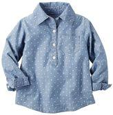Carter's Girls 4-8 Polka-Dot Chambray Woven Shirt