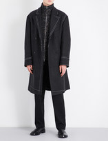 Maison Margiela Contrast-stitch double-breasted wool coat