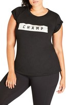 City Chic Plus Size Women's Champ Tee