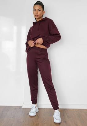 Missguided Burgundy Msgd Slim Fit Joggers