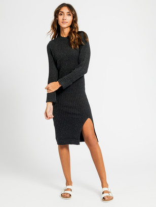 Nude Lucy Dylan Knit Dress in Charcoal