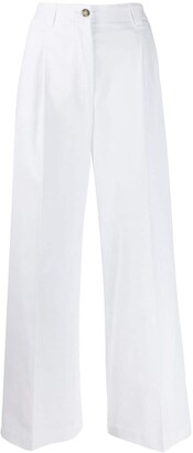 MSGM High-Rise Darted Palazzo Trousers