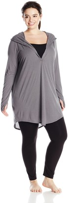 Yummie by Heather Thomson Women's Plus-Size Pima Jersey Hooded Coverup