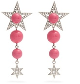 Miu Miu Star bead and crystal-embellished clip-on earrings