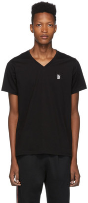 Burberry Black Marlet V-Neck T-Shirt