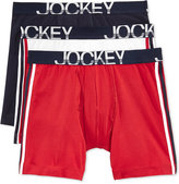 Jockey Active Stretch Tagless Midway Boxer Brief 3 Pack