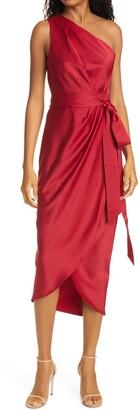 Ted Baker Gabie One Shoulder Wrap Skirt Dress