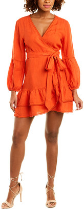 Tessora Paloma Linen Wrap Dress