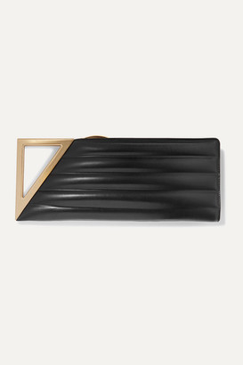 Bottega Veneta Rim Quilted Leather Clutch - Black